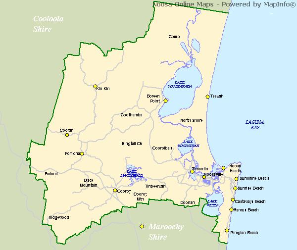 Map Of Noosa Noosa Map